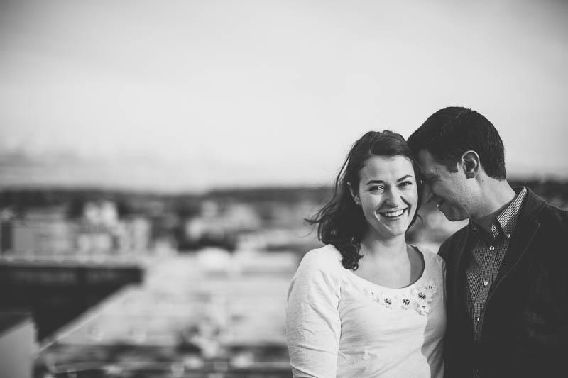man kisses woman black white photo