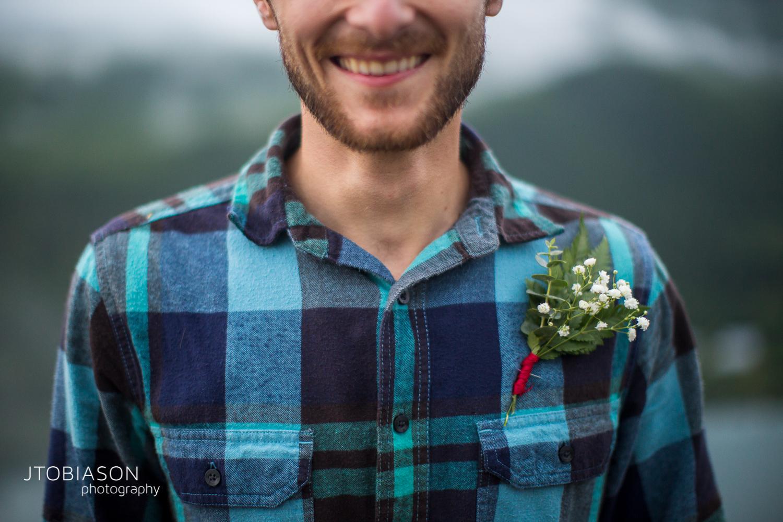smiling man engagement shoot photo
