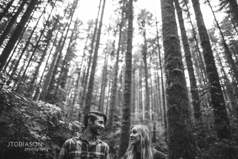 couple smiles hiking photo