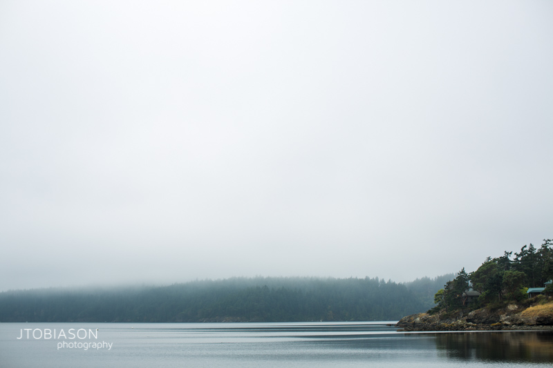Fog over Orcas Island photo