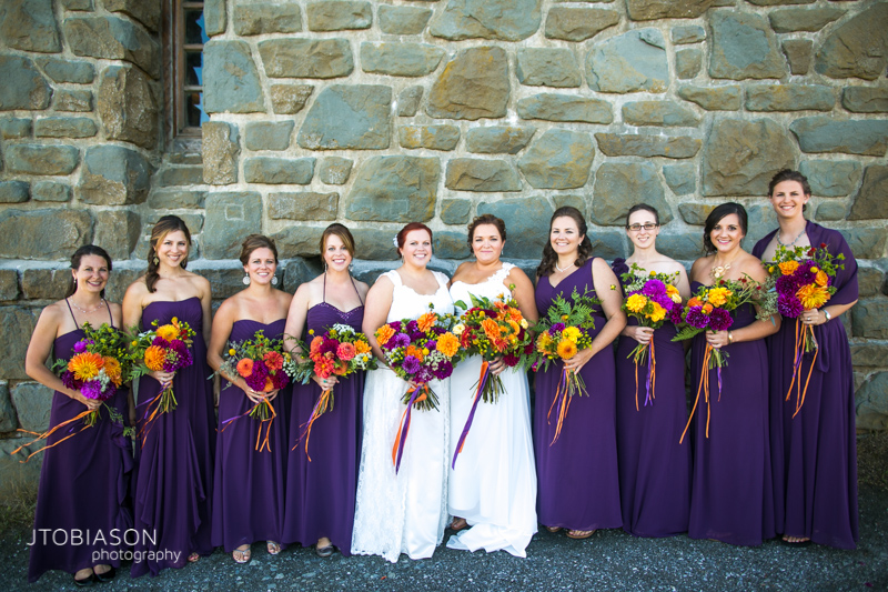 wedding party orcas island wedding photo