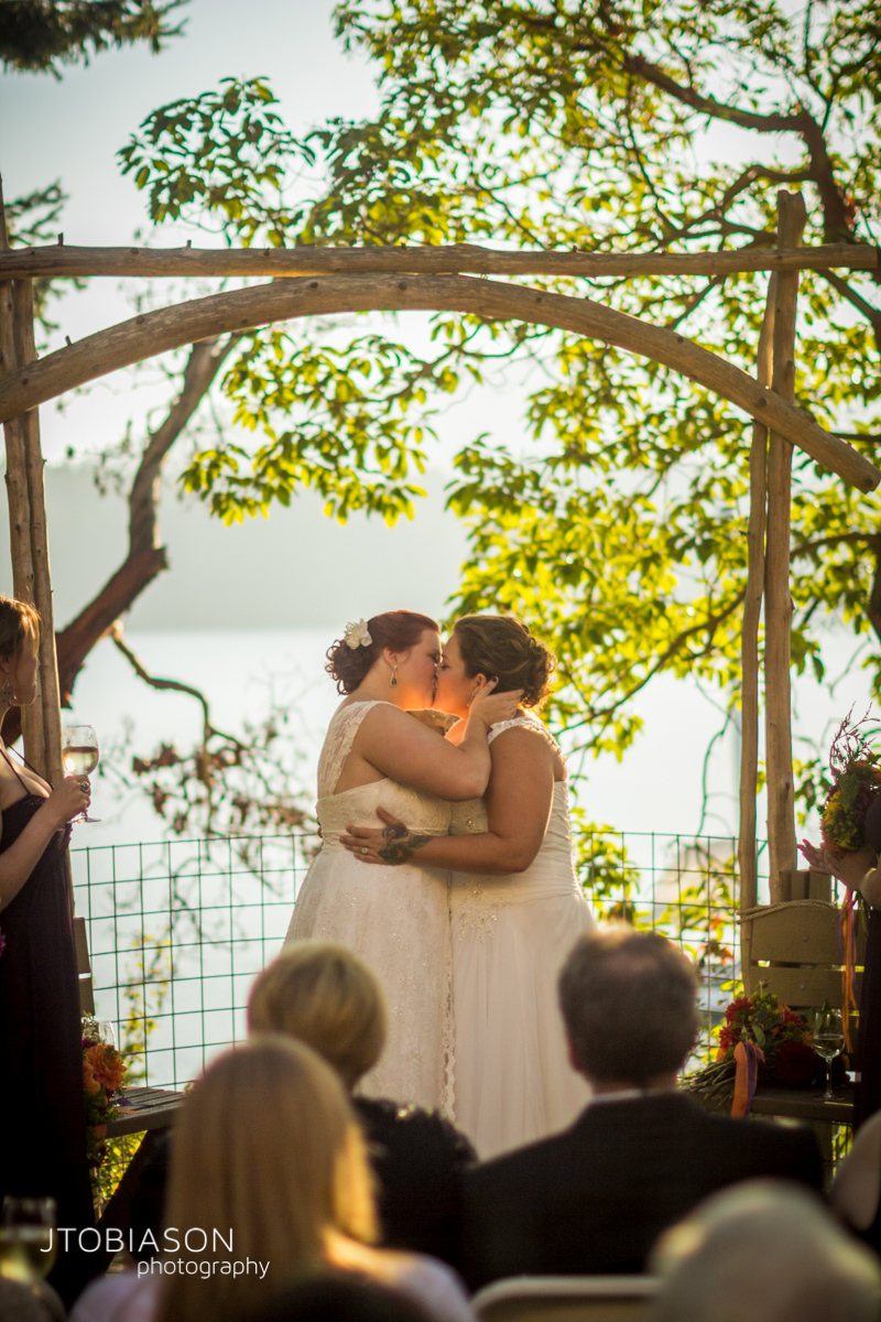 Brides First KIss photo