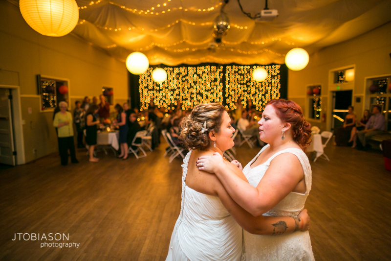 Brides have first dance photo