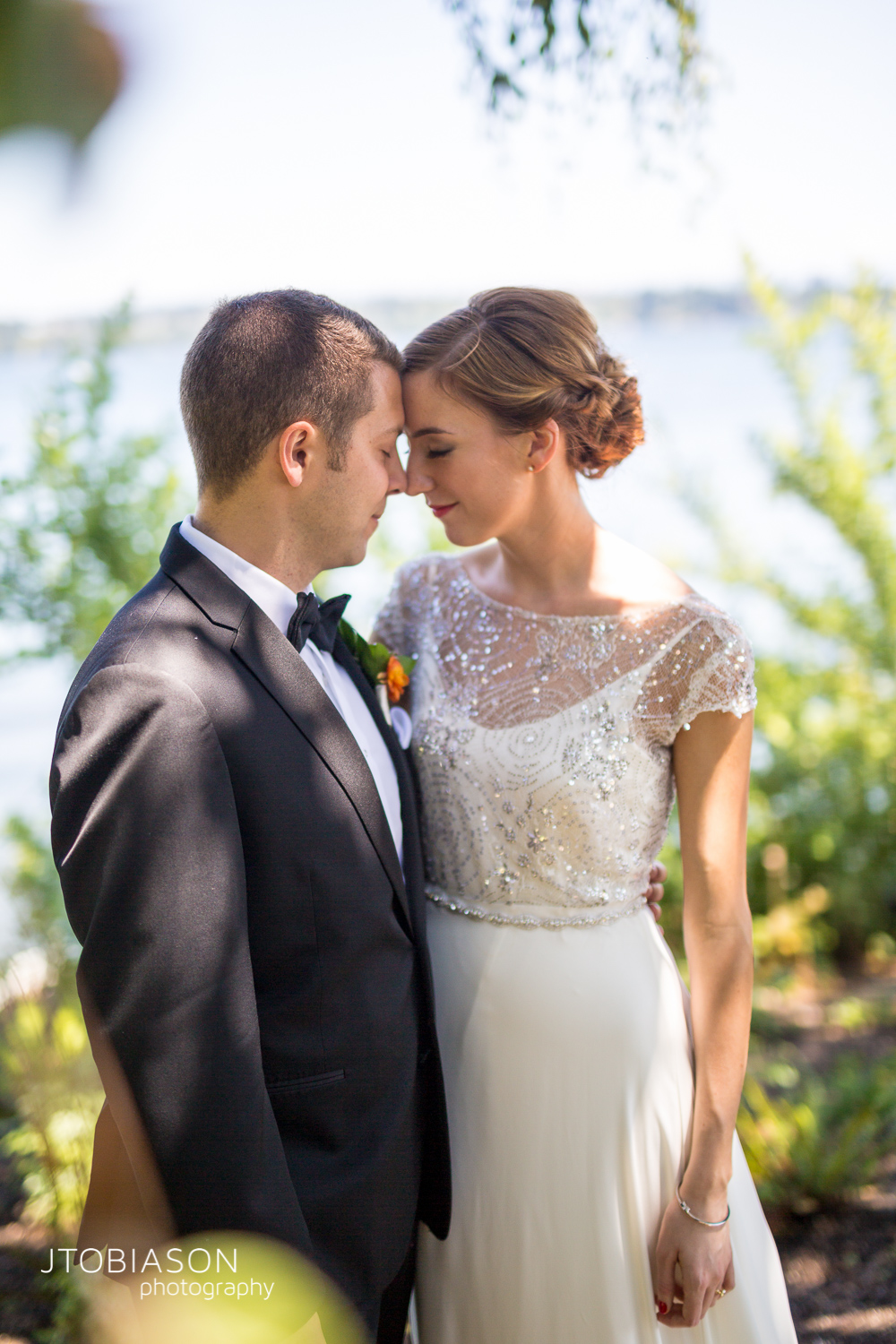 Couple has tender moment photo