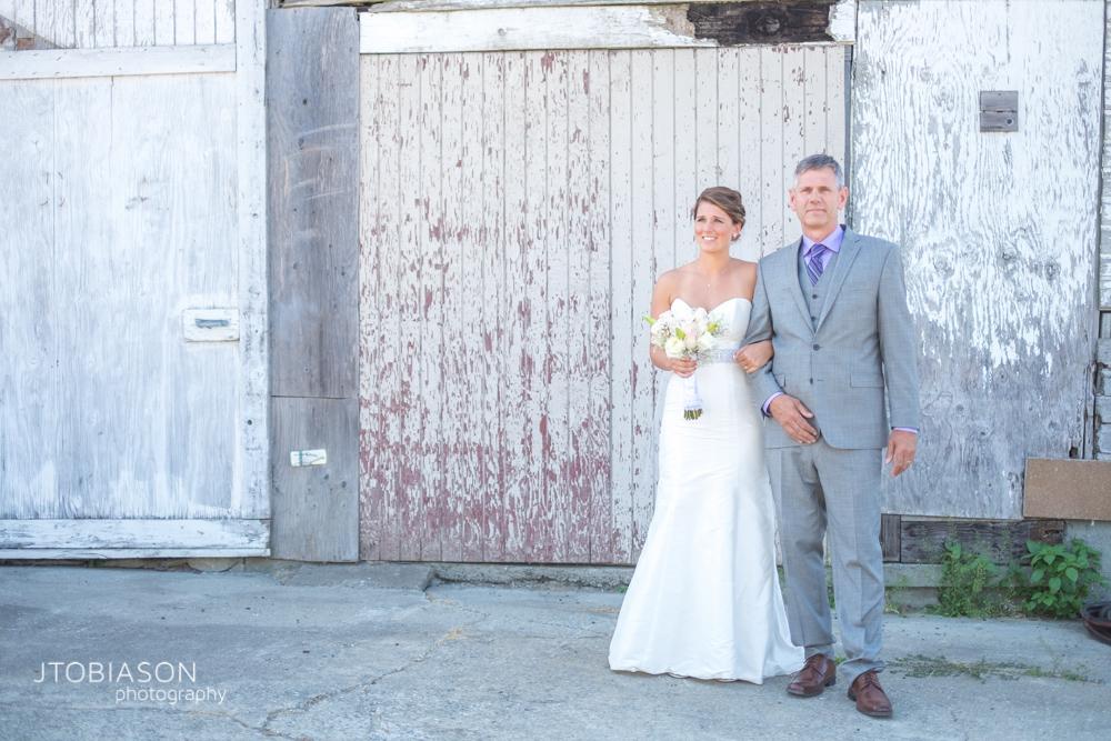 Bride walks with her dad Dariyland Wedding photo