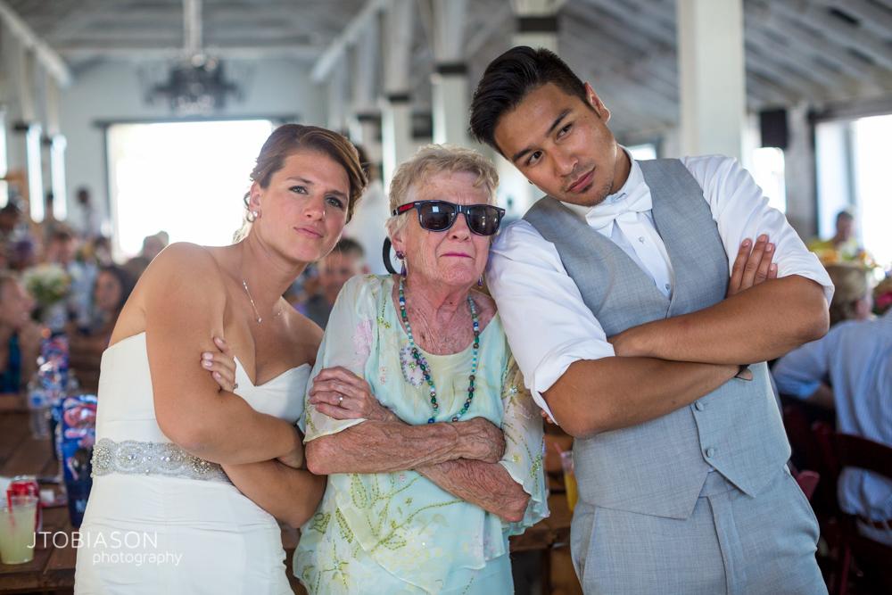 Couple and awesome grandma Dariyland Wedding photo