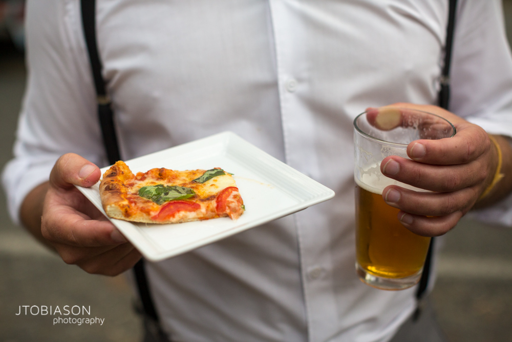 30 - Pizza and beer Bellingham Fall Wedding photo