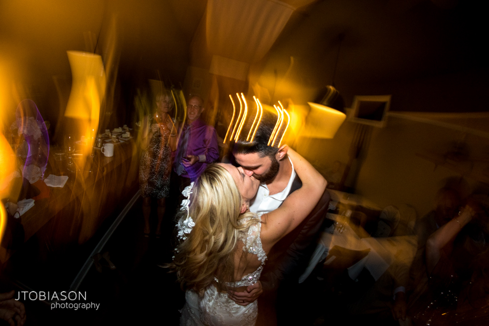 44 - Bride and groom kiss during dance at The Fork photo