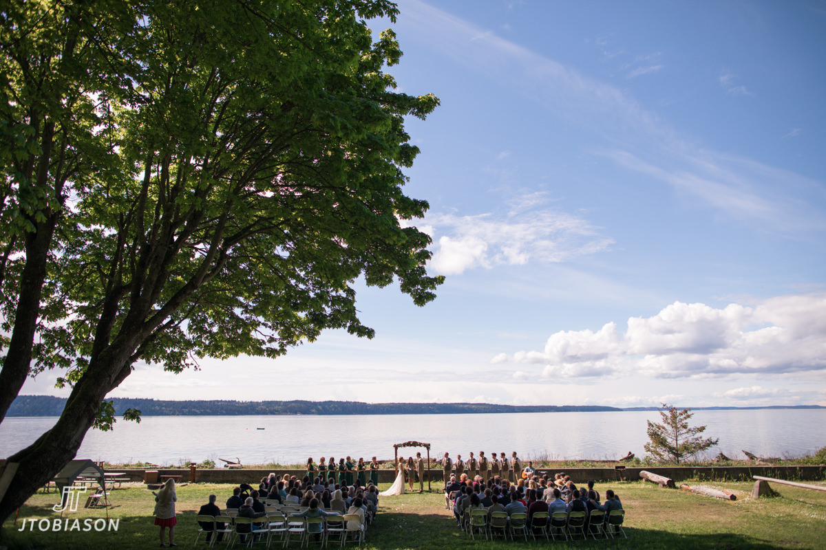 They Then Had Their Wedding Ceremony Right On The Edge Of Water