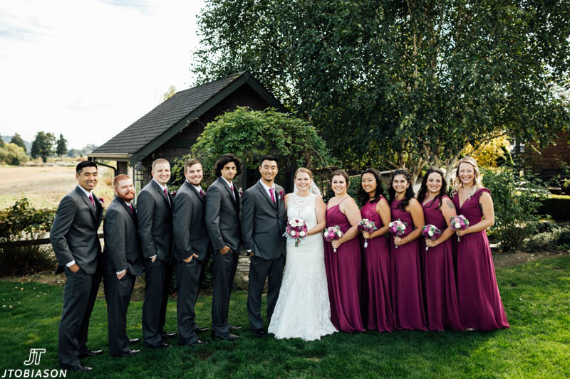 Wedding party at HIdden Meadows Wedding