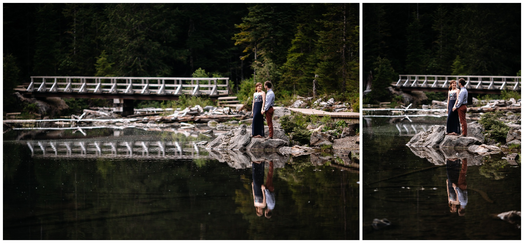 Lake 22 hiking engagement