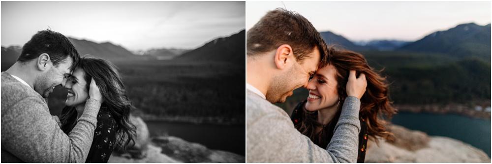 sunset hiking engagement photos