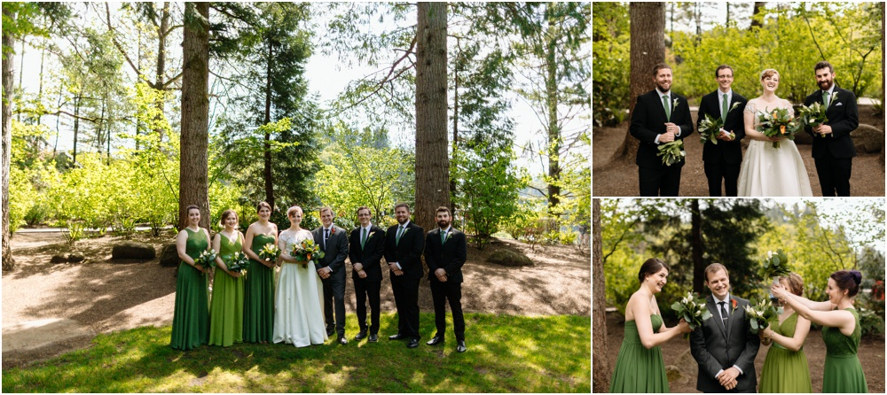 wedding party on sunny day Salish Lodge Wedding