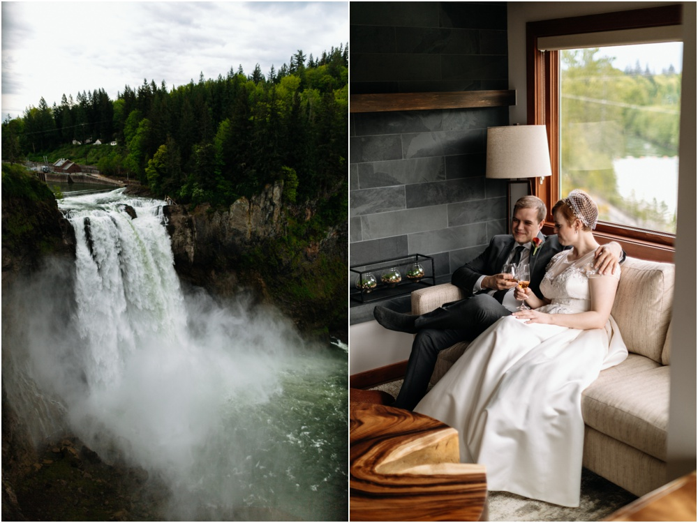 Bride and groom Salish Lodge Wedding