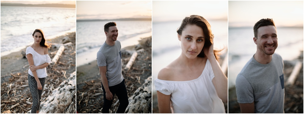 bride and groom portraits Sunset Discovery Park Engagement
