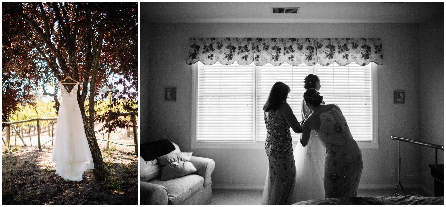 dress at Highland Estate Wedding