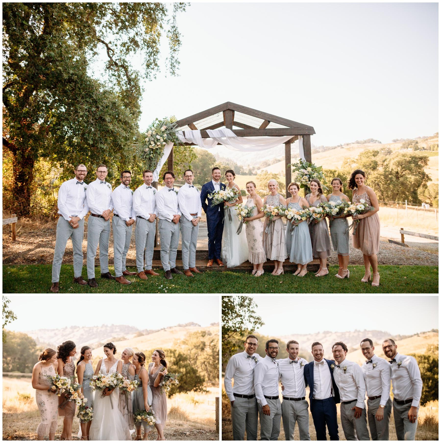 wedding party at Highland Estate Wedding