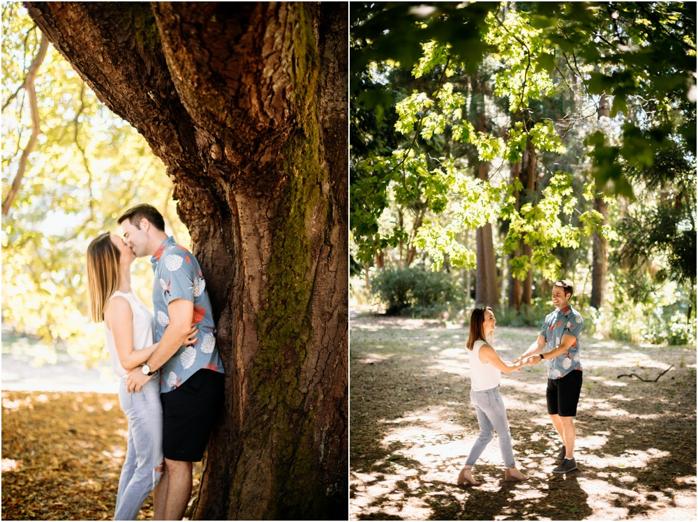 couple dances under tree Seattle wedding photographer