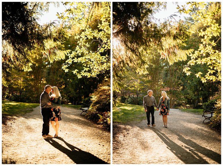 Fall Seattle Arboretum engagement | Jay & Monica