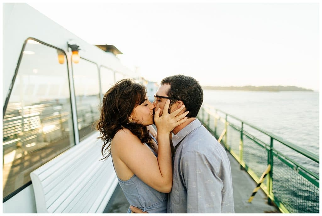Washington State Ferries engagement photos