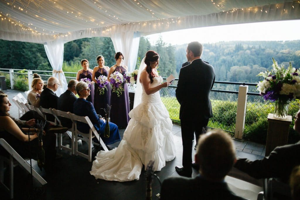 Ceremony Salish Lodge wedding venue