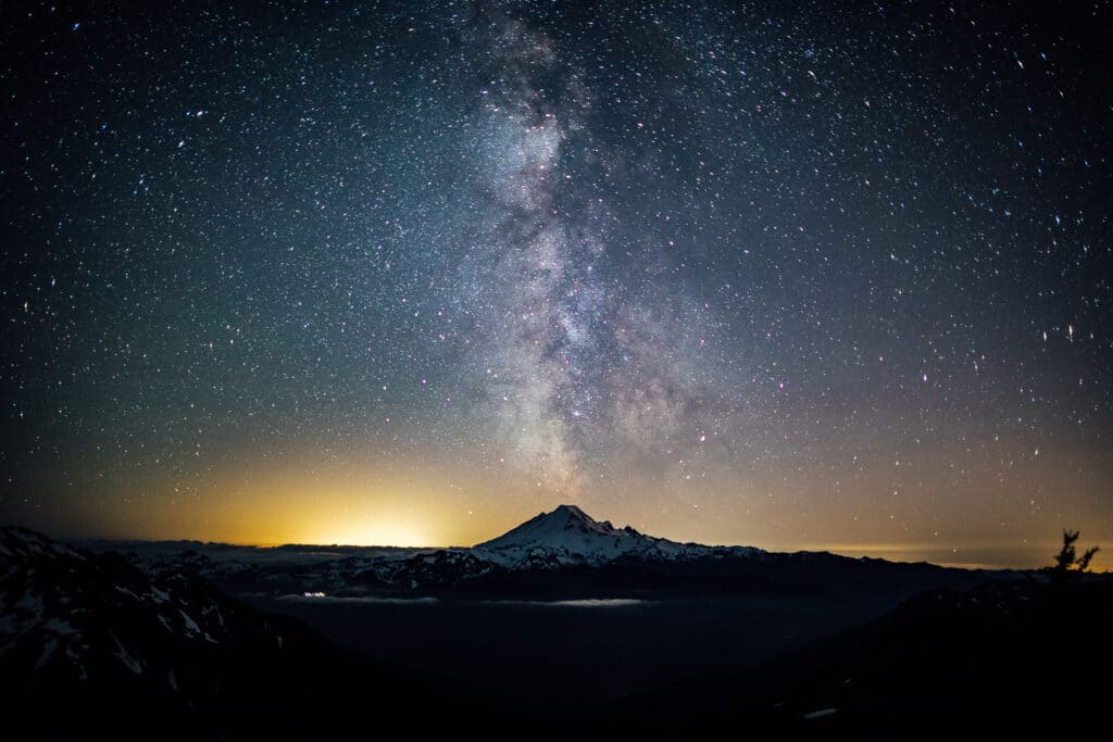 Milky Way over Mt Baker