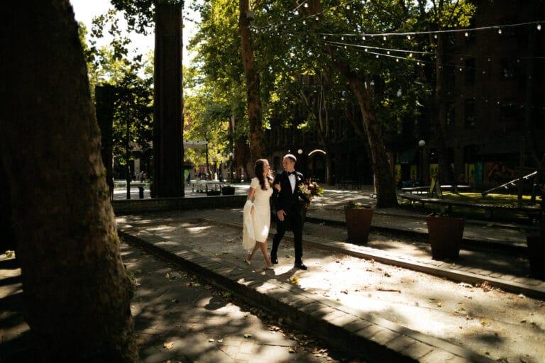 Olympic Sculpture Park wedding | Ciera & John